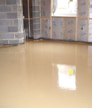 UFH Screed-pumping complete, awaiting drying and polishing